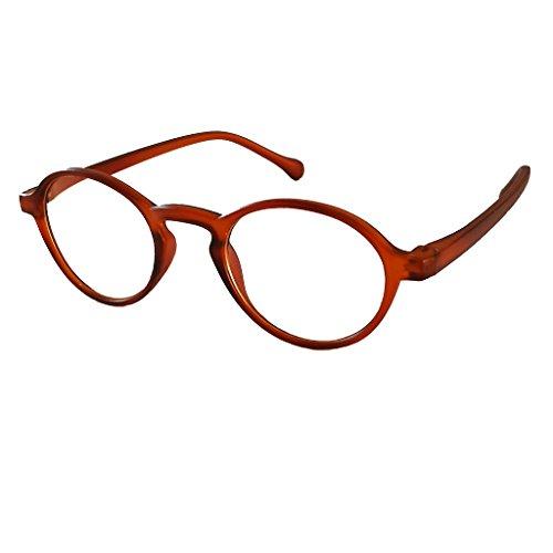 Klassieke ronde ovale kleine retro nerd leesbril leeshulp klassieke matte look 2.0 bruin