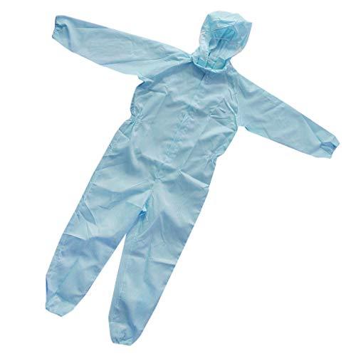 Tuta Sicurezza Riflettente Gilet Con Rivestimento Con Cerniera Lampo Antistatica Abbigliamenti Tessuto - Blu