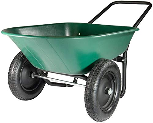 Green Thumb 70008 2 Wheel Poly Wheelbarrow