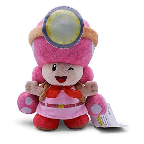 20 cm super mario knuffels paddestoel kapitein pad padette gevulde poppen pluche schat tracker rugzak voor baby geschenken, 20 cm paddenstoel