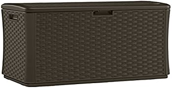 Suncast BMDB134004 Wicker Resin Deck Brown Box