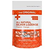 Silver Lozenges - The Perfect Lozenge for Oral Health, Daily Supplementation Contains 30ppm Silver - Tropical Orange
