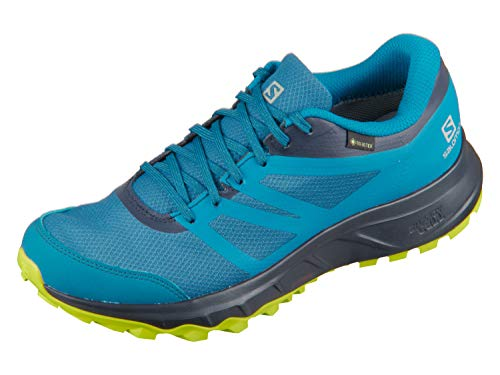 Salomon Trailster 2 GTX, Zapatillas de Trail Running Hombre, Azul (Lyons Blue/Navy Blazer/Evening Primrose), 40 2/3 EU