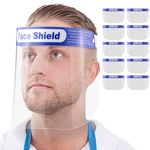 Gesichtsschutz-Schirm Augenschutz Spuck-Schutz Face-Shield Schutzschild Gesichtsschirm (10)