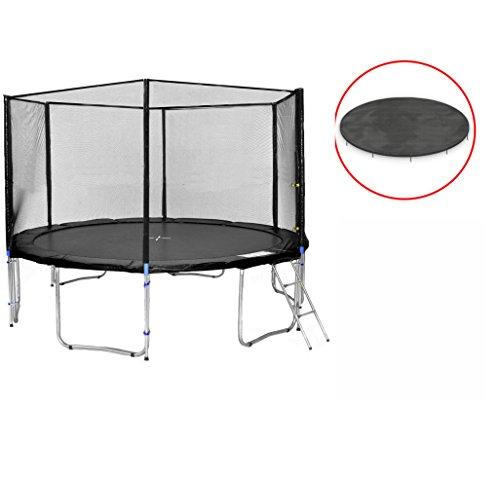 Simple Buy - Gartentrampolin - Kindertrampoline - XXL Trampoline - Trampoline Rund - Variationen (Schwarz, 400cm)