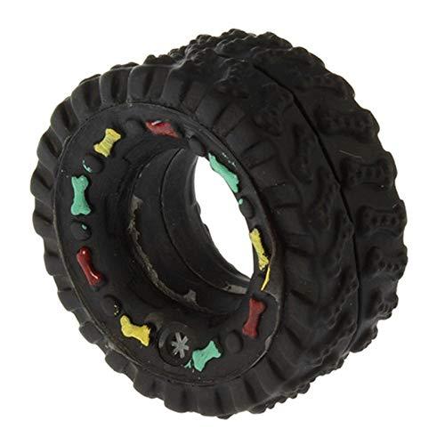 GZXHWWJ Hundespielzeug Lustige pet Hund Sound Spielzeug schwarz runde Reifen bälle Stimme hundespielzeug welpen kaut quietschenden Sound Gummi reifenform Spielzeug pet zubehör