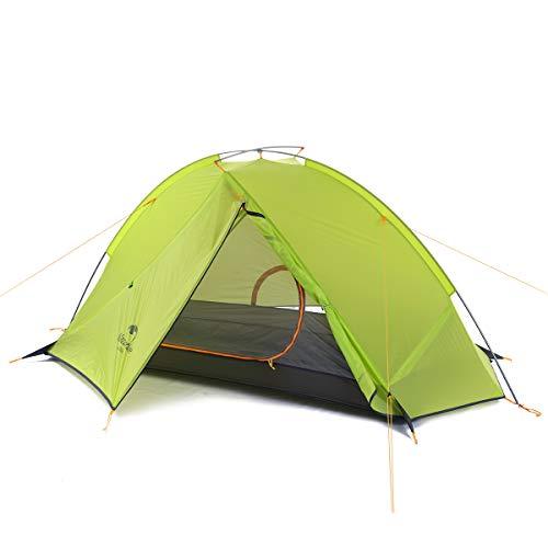 Naturehike Taga Ultralight Rucksack Zelt eine Ebene Radfahren Zelt für 1/2 Person (lichtgrün 1Person)