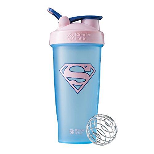 BlenderBottle Justice League Superhero Classic 28-Ounce Shaker Bottle, Supergirl
