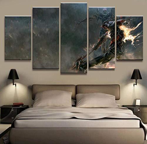 LCCWLH Impresiones sobre Lienzo 5 Unidades Neón Genesis Evangelion Anime Poster Home Art Decor Poster Sin Marco