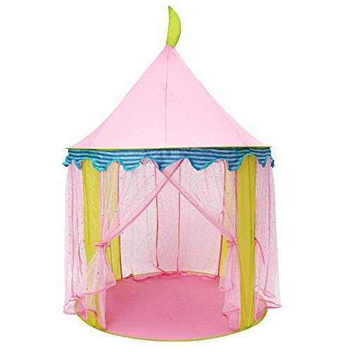 YASE-king Kids Girls' Princess Pink Color Lovely Tent Portable Indoor Outdoor Folding Toy House Children Large Size Anti- Tent Game Room