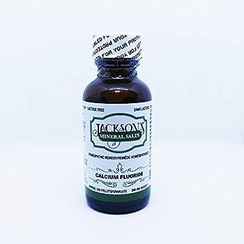 Jackson s #1 Calc fluor 6X - Certified Vegan Lactose-Free Schuessler Tissue Cell Salt - Made in The USA  500 pellets