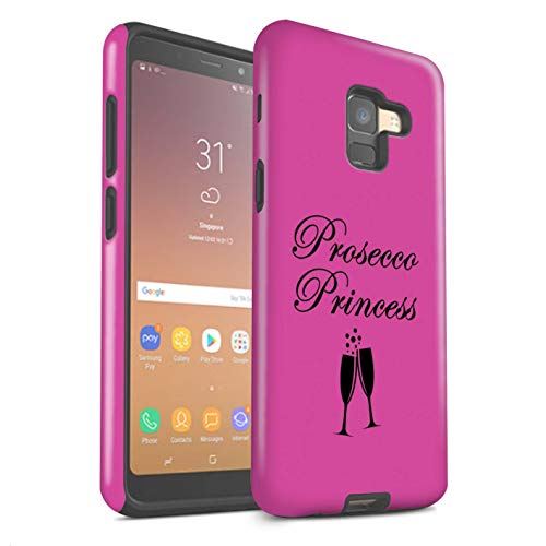 eSwish Phone Case/Cover/Skin/SG-3DTBM / Prosecco Fashion Collection Samsung Galaxy A8 2018 Prosecco Princess/glas