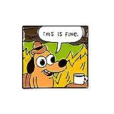 Anime Cartoon Hound Perro Silla Cómic Broche Animales Llamas Esmalte Pasadores Moda Lindo Bolsa Mochila Joyería