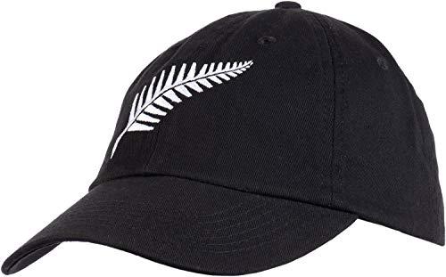 New Zealand Pride   Kiwi Silver Fern Southern Cross Black Baseball Cap Dad Hat