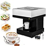 Happybuy Coffee Printer Machine 10-20 S/Cup DIY Design Food 3D Latte Art Maker Selfie Milk Tea for Chocolate Cookies Small Cake Store