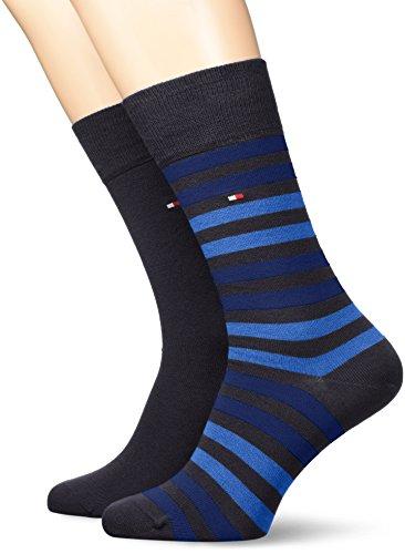 Tommy Hilfiger 472001001, Calcetines para Hombre, Azul (Dark Navy 322) 39/42 (Tamaño del fabricante:039)