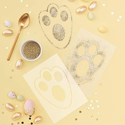 Ginger Ray CA-913 Osterhasen-Schablone – Doppelpack – Karotte Crunch, Multi, Nicht zutreffend