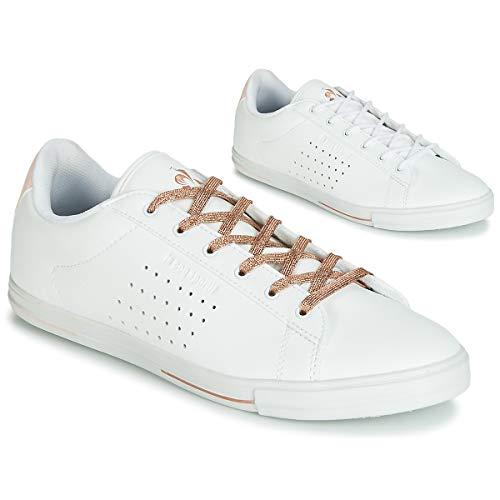 Le Coq Sportif Agate Boutique Premium Sneaker Damen Weiss/Rose - 38 - Sneaker Low