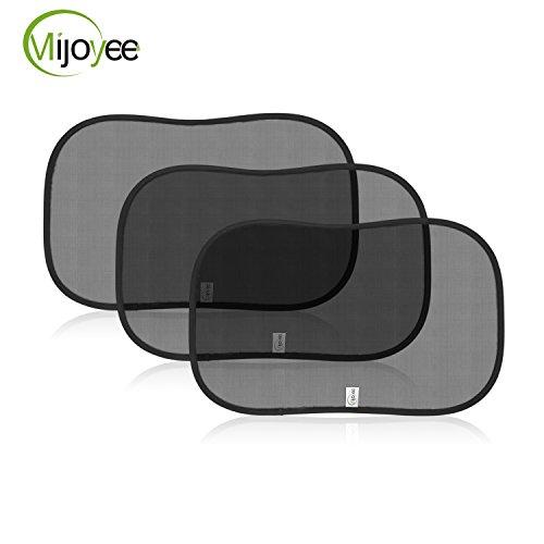 Mijoyee- (3 Pack) Static Cling Car Window Sun Shade Blocks...