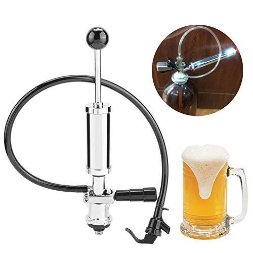 Dispensador de cerveza, 4 In Draft Beer Picnic Tap Party Pump Bomba de barril de cerveza de servicio pesado con gatillo de presión(Tipo S)