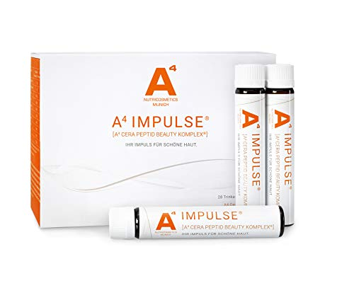A4 IMPULSE Kollagen-Trinkampullen - Beauty-Drink mit Ceramiden + Vitaminen (1 x 28 Stk.)