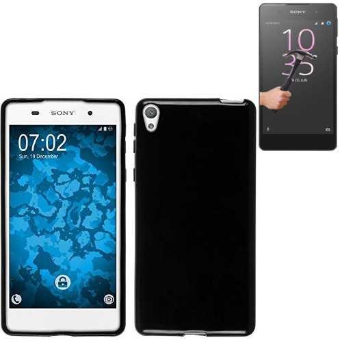 Todobarato24h Funda TPU Lisa Compartible con Sony Xperia E5 Negra + Protector...