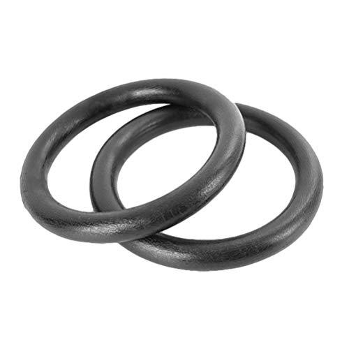 Garneck 1 Paar Turnringe Abs Crossfit-Ringe Klimmzugringe für Das Bauchmuskeltraining Schwarz