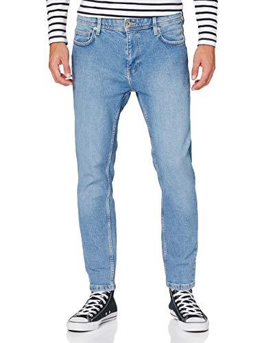 edc by Esprit 990CC2B301 Jeans, 903/bleu légèrement délavé, 32W x 30L Homme