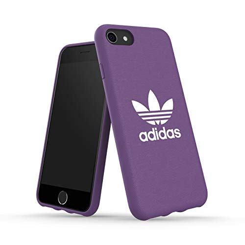 Cover Adidas originale SS19 viola flessibile compatibile con iPhone 6/6S/7/8