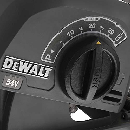 DeWalt DCG200NT-XJ DCG200NT-XJ-Rozadora sin escobillas XR FLEXVOLT 54V con 2 Discos Diamante Ø125mm sin Cargador/batería con maletín TSTAK Vi, Schwarz/Gelb