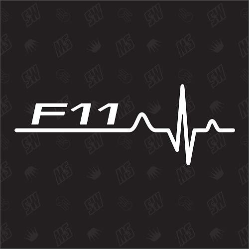 speedwerk-motorwear F11 Herzschlag - Sticker für BMW, Tuning Fan Aufkleber