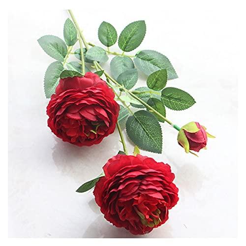 DXM Künstliche 3 Pfingstrosen, realistische Simulationsblumen, lang gebrauchte dekorative Blumen für Home Hochzeitsdekoration, dekorative Blumen für Freunde und Verwandte DREI Pfingstrosen (Rosa)