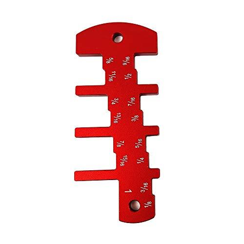 Router Tiefenmesser Holzbearbeitung Tischkreissäge Metric Caliper Aluminiumlegierung Messwerkzeug ultimative Clarity Ruler Hohe Härte und Zähigkeit Handwerkzeug (Color : Red)