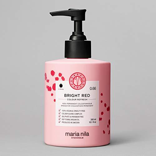 Maria Nila Colour Refresh - Bright Red 300ml | Eine revolutionäre Farbmaske zur Auffrischung und Intensivierung der Haarfarbe