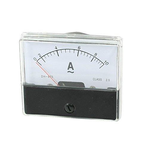 DealMux - Montaje de tornillos analógico AC 0 – 10 A, rango de escala de amperios, amperímetro, panel