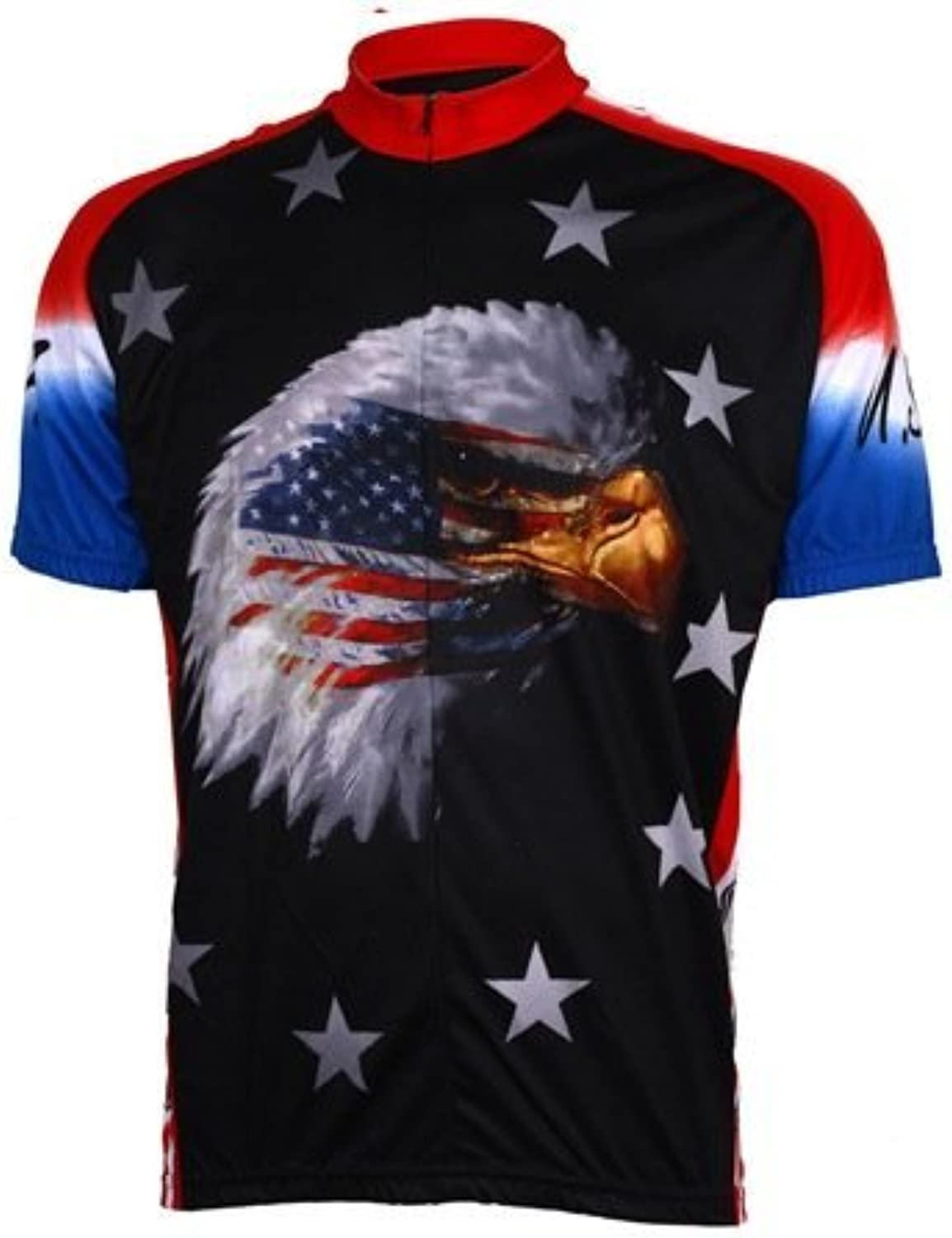 World Jerseys Men's American Eagle Cycling Jersey, American Eagle, Large by World Jerseys