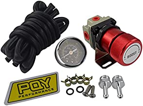 FairOnly Convenient Life General Adjustable Manual Gauge Turbo Boost Controller 1-150 psi SR20DET red