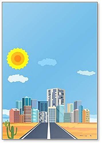 Stedelijk landschap met infografische elementen. Slimme stad. Modern City Koelkast Magneet