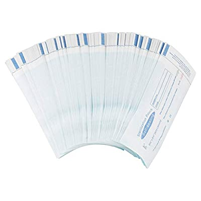 200PCS Self Seal Sterilization Pouch,PVC Dental Sterilization Pouch,Autoclave Sterilizer Bags Pouch for Cleaning Tools,5.12 x 2.24 inch