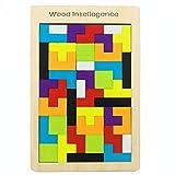 Gobus 40 Piezas Tangram Rompecabezas de Madera Rompecabezas Juguetes Juegos de Entrenamiento Cerebral Bloques educativos de Juguete para niños pequeños Estudiantes