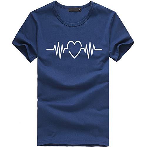 TWIFER Sommer Damen T Shirt Mädchen Plus Size Gedruckt Tees Shirt Kurzarm T Shirt Bluse Tops