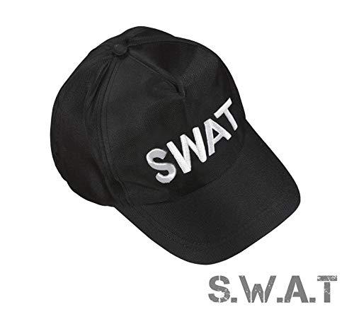 TK Gruppe Timo Klingler S.W.A.T Polizei Cap Kappe Schilmütze Basecap Swat FBI Mütze als Kostüm Accessoire Verkleidung Kostüm Damen & Herren, Fasching Karneval