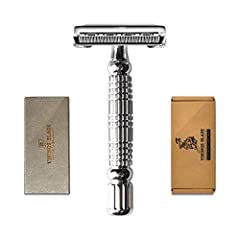 This is THE original Chieftain by Vikings Blade: a time-tested and proven perfect all-rounder razor with medium aggression 20% Heavier. 150% Smoother. 200% more Eco-Friendly than other mass-produced lookalikes HIGH-end materials, HEAVY construction &...