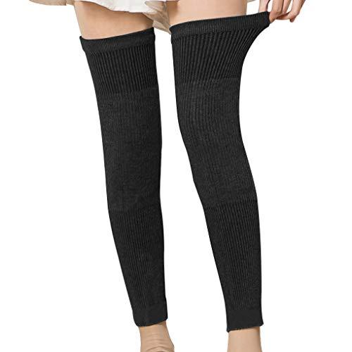 Calcetines de compresi¨n para adultos sobre la rodilla, de lana de cachemira, transpirable, para invierno, extra largos, gruesos, para artritis, piernas, calentadores de piernas, para rodilla, muslo,