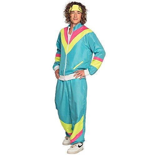 Boland 88544 - Kostüm Trainingsanzug 80er Jahre mit Taschen, Jacke und Hose, Campinganzug, Jogginganzug, Junggesellenabschied, Retro Style, Sportler, Gruppenkostüm, Motto Party, Karneval