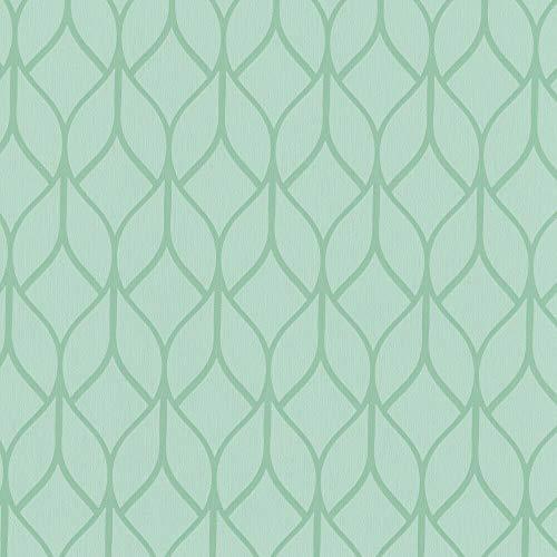 ecosoul 1,4m2 wasdoek tafelkleed Hanna groen breedte 140cm mintgroen tuin beschermende tafelkleed glad (meter)