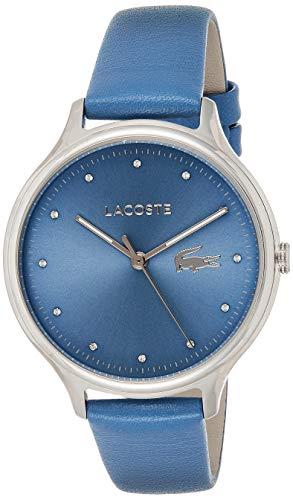 Lacoste Damen Datum klassisch Quarz Uhr mit Leder Armband 2001006