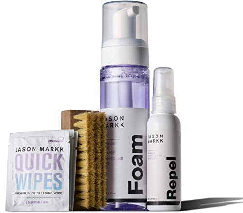 Jason Markk Unisex Limited Edition Gift Set 7oz RTU Foam, 2oz Repel, Premium Brush, 3 Quick Wipes (Combo)