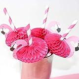 SHYOD 150PCS 3D Flamingo Pajitas para Beber Jungle Paper Straw Summer Pool Party Supplies Decoración de la Boda Adultos Pink Blue Flamingo Pajitas (Color : Pink)
