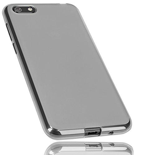 mumbi Hülle kompatibel mit Huawei Y5 2018 Handy Hülle Handyhülle, transparent schwarz